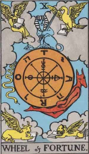 Wheel of Fortune tarot cards